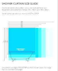 standard shower curtain width how big is a standard bath size of standard shower curtain standard