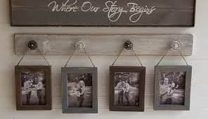 rustic set sets decorative picture photo plans wooden frames ideas collage wall crafts white stunning diy