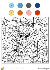 Coloriage Magique Niveau Cm1 D Un Petit Poisson