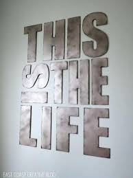 large metal letters wall art uk
