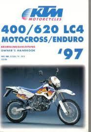 1997 ktm 400 620 lc4 motorcycle owners handbook repair manuals official 1997 ktm 400 620 lc4 owners handbook