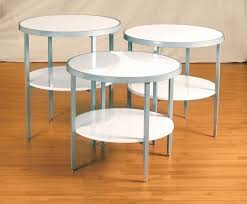 round display tables white gloss