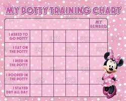 Digital Pink Minnie Mouse Potty Training Chart Free Punch