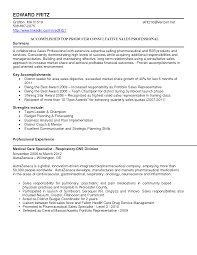 Sales Resume Summary Examples Examples Of Resumes