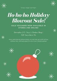 Christmas Flyer Templates Green With Red Ball Holiday Sale Christmas Flyer Templates
