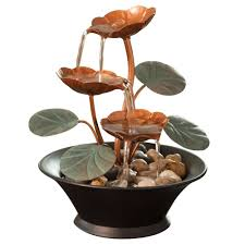 Small Picture Amazoncom Bits and Pieces Indoor Water Lily Water Fountain