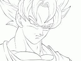 Small Picture Goku Super Saiyan 4 Coloring Pages Drawings Of Dragon Ball Z Goku
