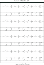 Number Tracing Worksheets For Kindergarten Alphabet Tracing ...