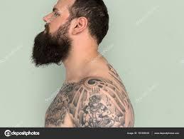 Muž S Plnovousem A Tetování Stock Fotografie Rawpixel 151256418