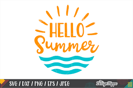 You can copy, modify, distribute and perform the work, even for commercial purposes, all without asking permission. Hello Summer Svg Beach Waves Sunshine Svg Png Dxf Files 227155 Cut Files Design Bundles
