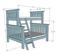 Ana White | Build a Twin over Full Simple Bunk Bed Plans | Free and Easy