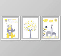 zoom on yellow and grey wall art nursery with yellow and grey nursery decor kids room decor baby children