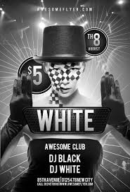 black white club psd flyer template psd for photoshop black and white club psd flyer template