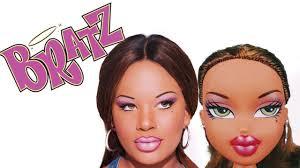 barbie is shaking bratz doll makeup