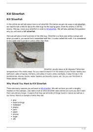 Kill Silverfish