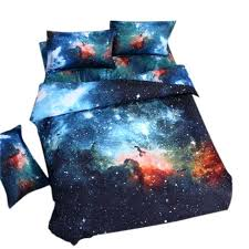 galaxy comforter kids boys twin size blue galaxy bedding set space comforter cover winter warm