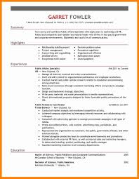 Public Affairs Specialist Cover Letter Business Strategist Cover