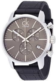 calvin klein ck city leather chronograph men s watch k2g271c3 calvin klein ck city leather chronograph men s watch k2g271c3