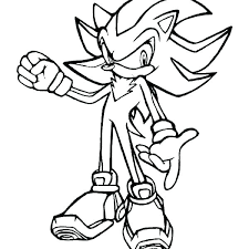 shadow coloring pages sonic super the hedgehog pictures