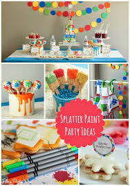 splatter paint and splash party with juicy juice collage photo
