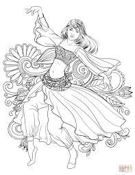 Greek Woman Dance coloring page | Free Printable Coloring Pages