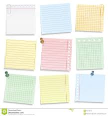 Colored Notebook Paper Stock Vector Illustration Of Clip 46413916