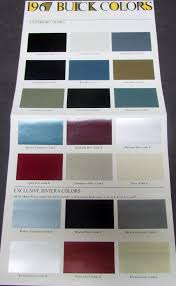 1967 Buick Full Line Color Paint Chips Sales Brochure