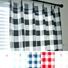 buffalo plaid curtains red navy check curtain panels black ecru gray and white chec
