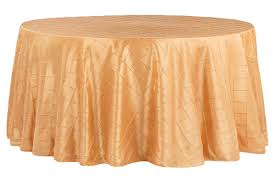 pintuck 120 round tablecloth gold