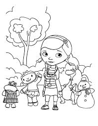 Small Picture Doc McStuffins and Friends in the Park in Doc McStuffins Coloring