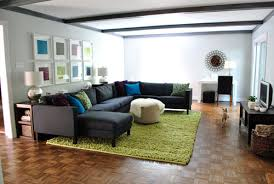 rug under sectional area rug ideas rug under sofa or in front