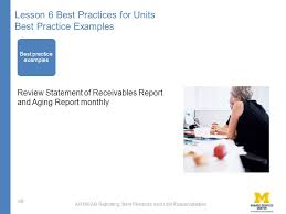Ar Aging Reports Ar160 Ar Reporting Best Practices And Unit Responsibilities Ar160