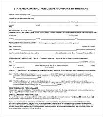 Music Contract Wedding Musician Contract Template