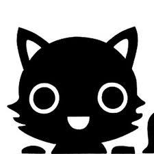 Twitter 黒猫のイラストアイコン 猫のイラスト