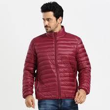 winter duck down jacket men 90 down content thin ultra light down jacket winter long