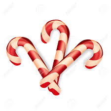 Candy Cane Design Christmas Candy Canes Isolated On The White Background Decoration