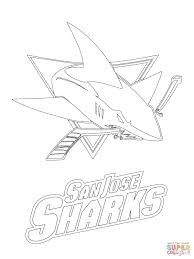 Small Picture Coloring Pages Animals San Jose Sharks Logo Coloring Page Shark