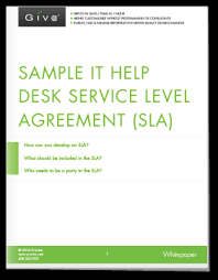 help desk service level agreement template sample it help desk service level agreement sla giva