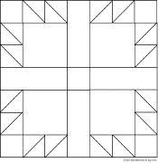 Small Picture how to make a bear paw quilt pattern Log Cabin Quilts
