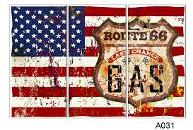 3 piece wall art painting american flag in red white and blue picture print on canvas art the picture home decor prints in painting calligraphy from home
