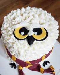 Harry Potter Hedwig Buttercream Cake Recipes In 2019 Harry
