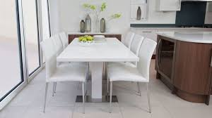 modern white extending dining set uk delivery white gloss and chrome dining table