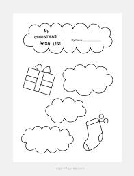Printable Christmas Gift List Template Christmas Wish List Templates Mr Printables