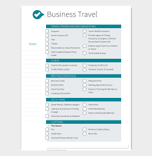 Business Trip Agenda Template Business Travel Itinerary Template 23 Word Excel Pdf