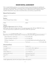 Free Rent Agreement Template Enchanting Simple Lease Rental Agreement Template Free Room Template Gbooks
