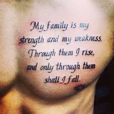 Meaning Of Family Quotes Custom Tattoo Quotes Tattoos For Men With Family Meaning Google Search