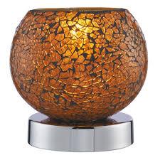 touch lamp le orange mosaic glass chrome base