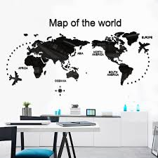 office wall stickers. World Map Wall Stickers Acrylic 3D Three-dimensional Creative Personality  Bedroom Room Dormitory Office Poster