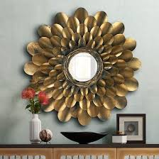 Each piece has 12 slats with different inspirational phrases. Jamie Young Bouquet Antique Brass 36 Round Wall Mirror 1j558 Lamps Plus In 2021 Round Wall Mirror Mirror Wall Metal Flowers