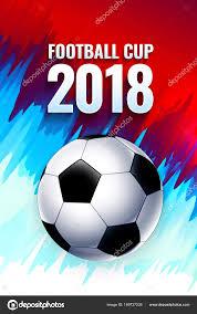 Voetbal Wereld Kopje Russische Behang Met Bal Vlag Achtergrond